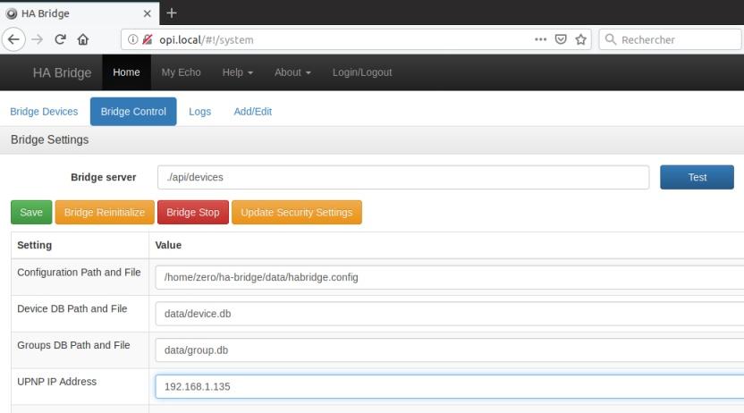 HA Bridge on Armbian Working with Domoticz and Alexa